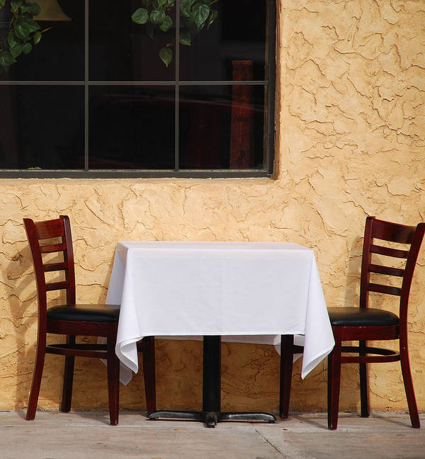 Abstract Poster featuring the photograph Lets Have Lunch Together by Susanne Van Hulst