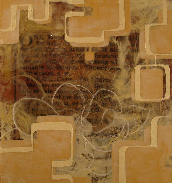 Abstract Poster featuring the painting Long Gone And Far Away by Monica James