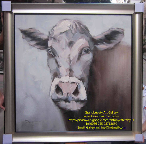 Cow Poster featuring the painting Looking by Darren