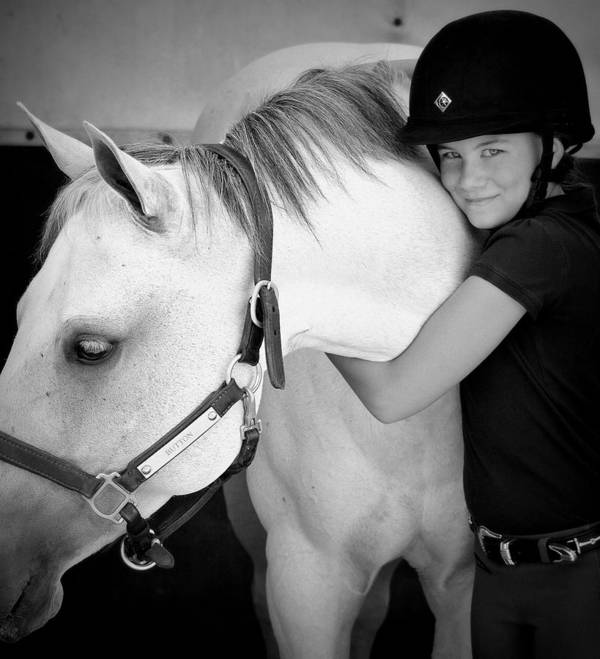 Horse-show Poster featuring the photograph Love My Pony by Barbara Dudley
