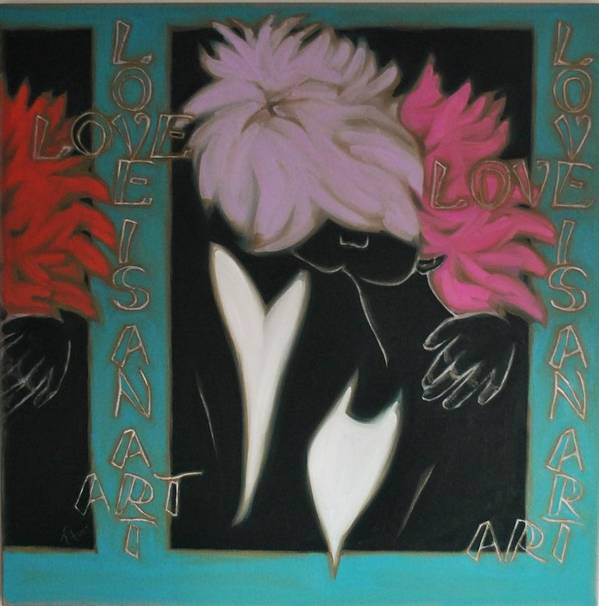 Pop Art Poster featuring the painting Love by Varvara Stylidou