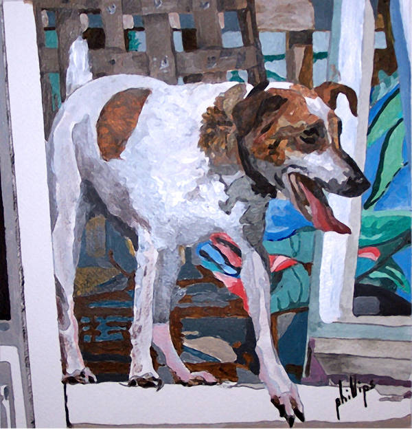 Dog Jack Russell Terrier Poster featuring the painting Lula by Jim Phillips