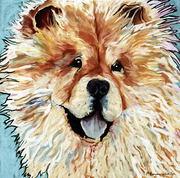 Chow Chow Poster featuring the pastel Madame Chu Cho by Pat Saunders-White