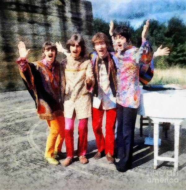 Hollywood Poster featuring the painting Magical Mystery Tour, The Beatles by Esoterica Art Agency