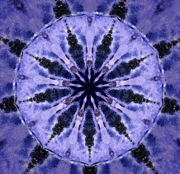 Mandala Poster featuring the digital art Mandala Ocean Wave by Nancy Griswold