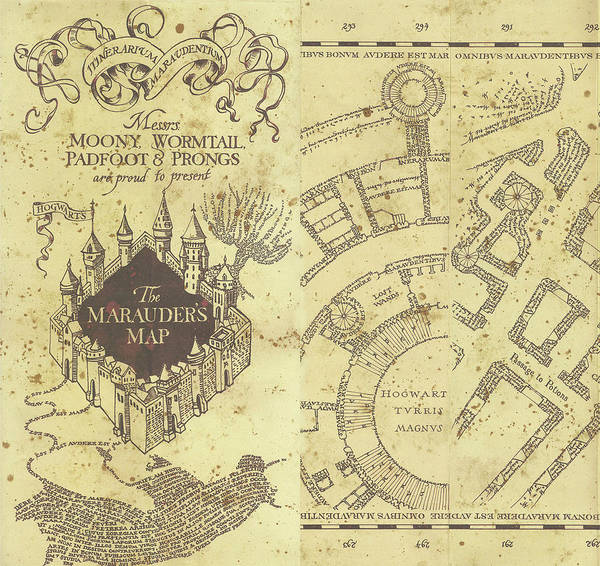 Marauder\'s Map Of Hogwarts Poster by Midex Planet