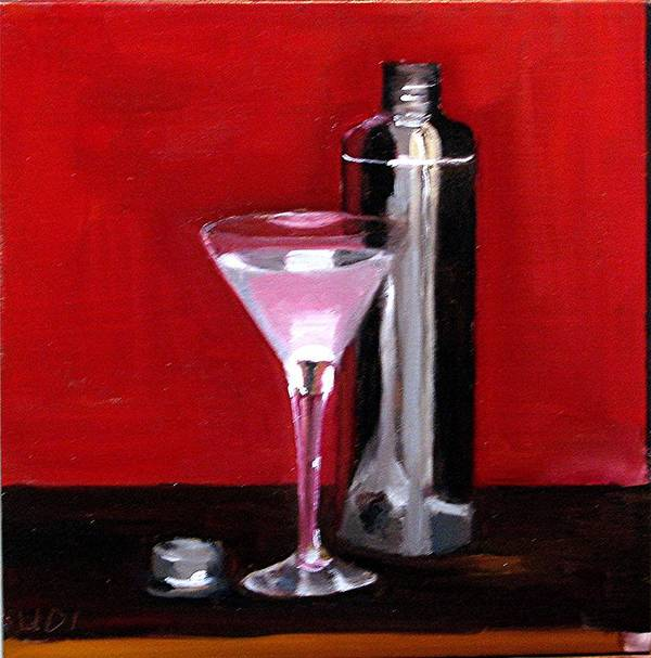 Still Life Drinks Food And Beverage Martini Poster featuring the painting Martini 2 by Udi Peled