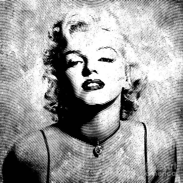 Marylin Poster featuring the digital art Marilyn Monroe - 04a by Variance Collections