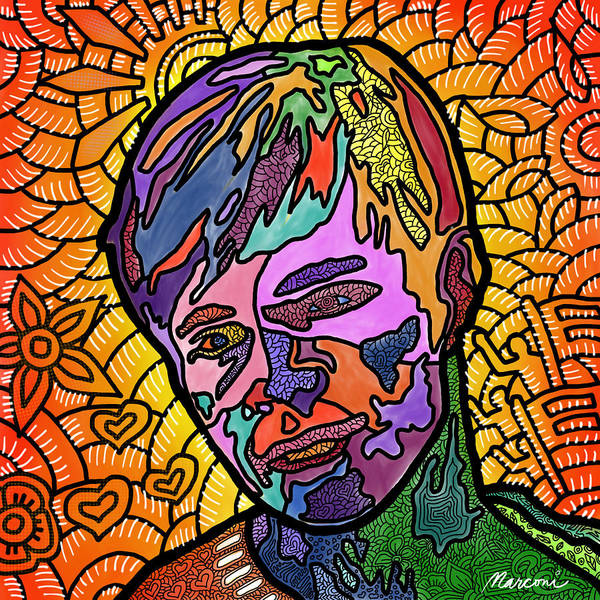 Matthew Shepard Poster featuring the digital art Matthew Shepard A Friend by Marconi Calindas