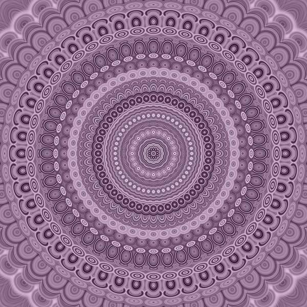 Mandala Poster featuring the digital art Mauve circle mandala by David Zydd