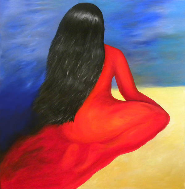 Bright Color Poster featuring the painting Meditation Moment by Fanny Diaz