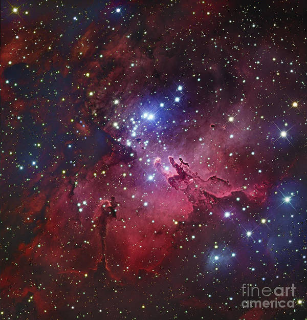 Star Clusters Poster featuring the photograph Messier 16, The Eagle Nebula In Serpens by Robert Gendler