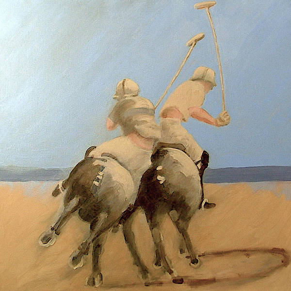 Equestrian Sports Polo Poster featuring the painting Miami Beach Polo by Jea DeVoe