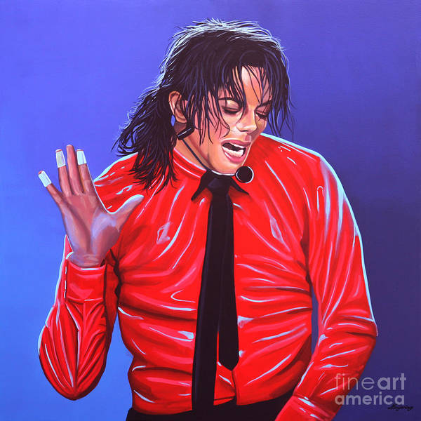 Michael Jackson Poster featuring the painting Michael Jackson 2 by Paul Meijering