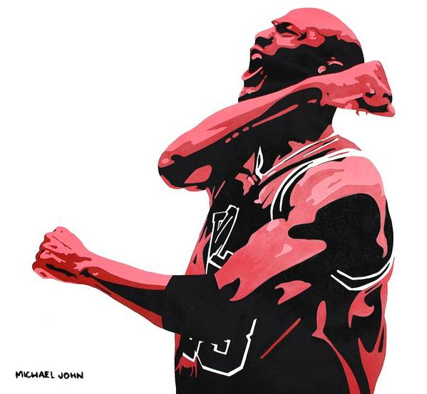 Michael Jordan Poster featuring the painting Michael Jordan by Michael Ringwalt