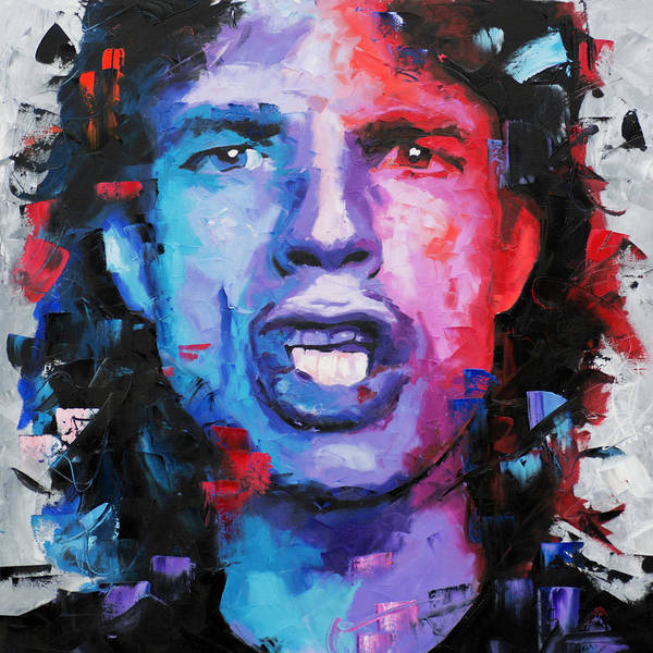 Mick Poster featuring the painting Mick Jagger by Richard Day