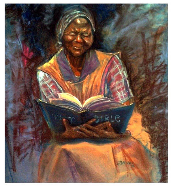 Bible Poster featuring the pastel Miss Betty by Tommy Winn