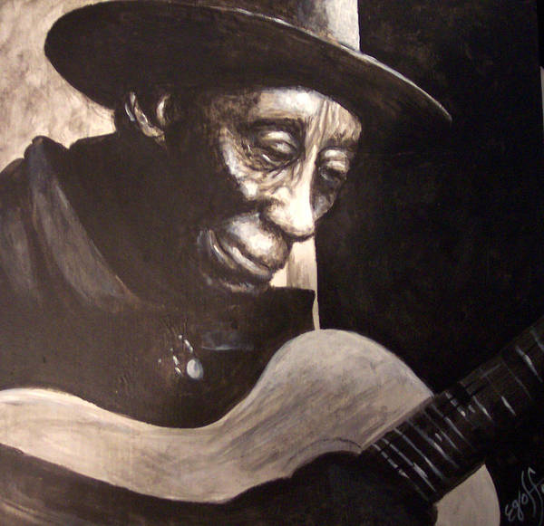 Blues Poster featuring the painting Mississippi John Hurt by Douglas Egolf