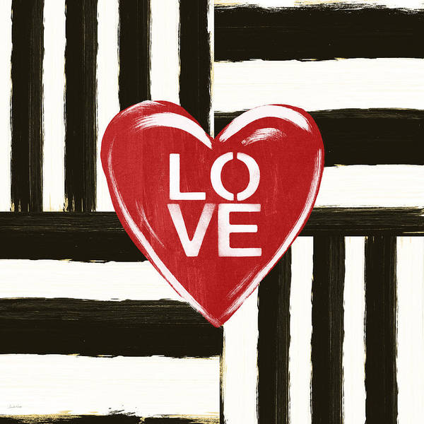 Love Poster featuring the painting Modern Love- Art by Linda Woods by Linda Woods