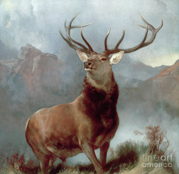 Monarch Poster featuring the painting Monarch of the Glen by Sir Edwin Landseer