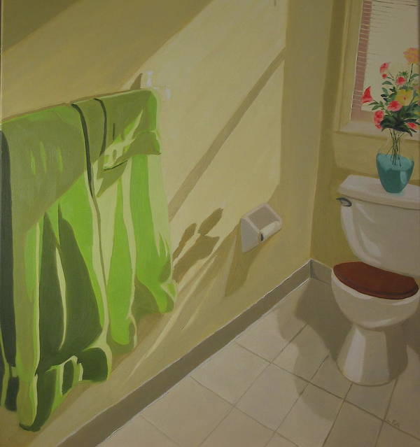 Interior Poster featuring the painting Morning Sunlight by Lea Novak