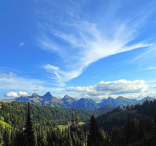 Cloud Poster featuring the photograph Mt. Rainier National Park by Sandra Peery