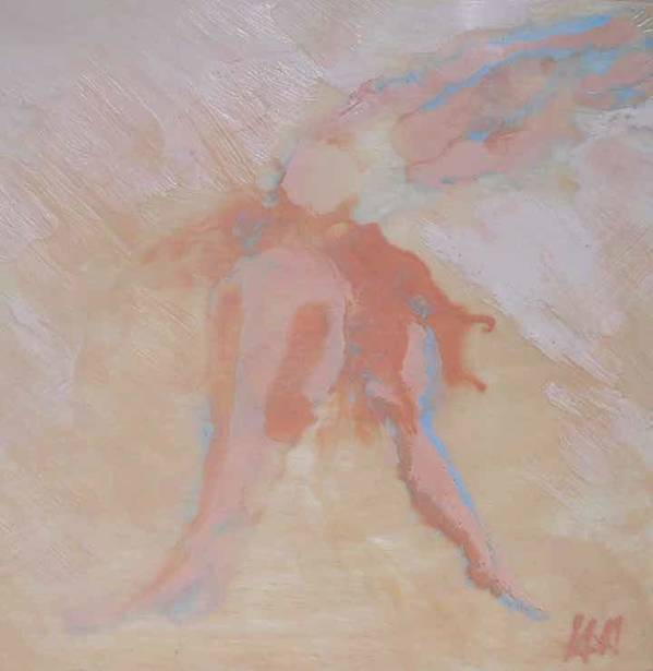 Abstract Encaustic Poster featuring the painting My Daughter The Dancer by Heather Hennick