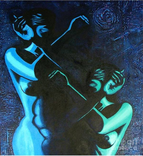 Figurative-abstract Poster featuring the painting My Disownment by Padmakar Kappagantula