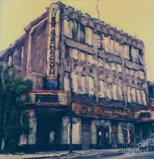 Polaroid Poster featuring the photograph New Granada Theatre by Steven Godfrey