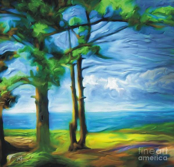 Landscape Poster featuring the painting Northern Ontario by Bob Salo