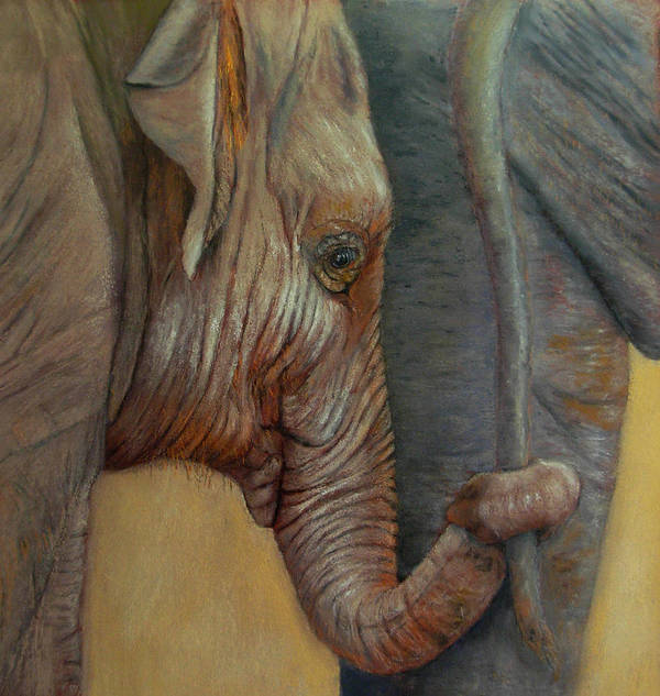 Africa Poster featuring the painting Now You Hold On Tight by Ceci Watson