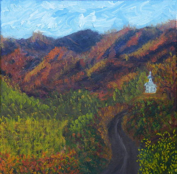 Fall Poster featuring the painting October Road To Home by Margaret G Calenda