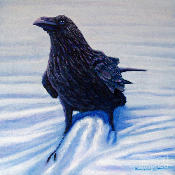Raven Poster featuring the painting On Canyon Road by Brian Commerford