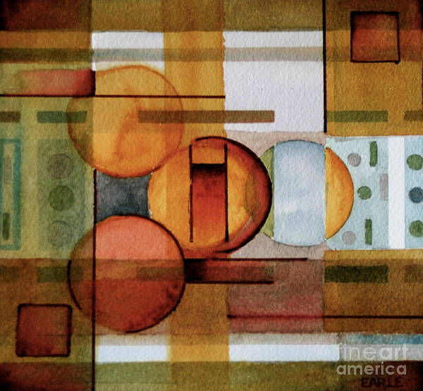 Abstract Poster featuring the painting Other Dimensions by Dan Earle