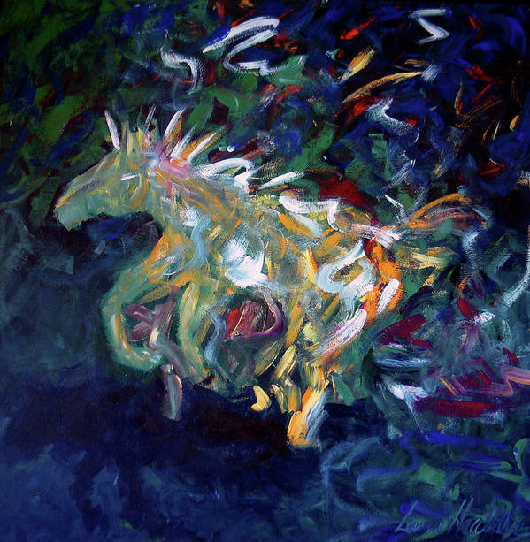 Abstract Horse Poster featuring the painting Painted Pony by Lance Headlee
