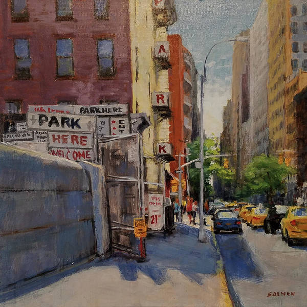 Manhattan Poster featuring the painting Park Here by Peter Salwen