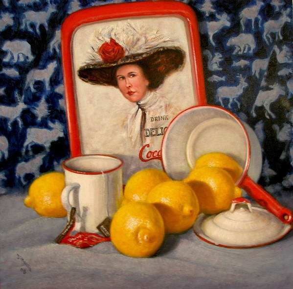 Realism Poster featuring the painting Past Teatime by Donelli DiMaria