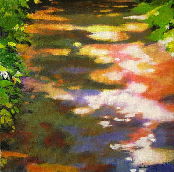 Landscape Poster featuring the painting Pathway Glitter by Melody Cleary