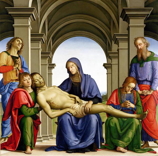 Pieta Poster featuring the painting Pieta by Pietro Perugino