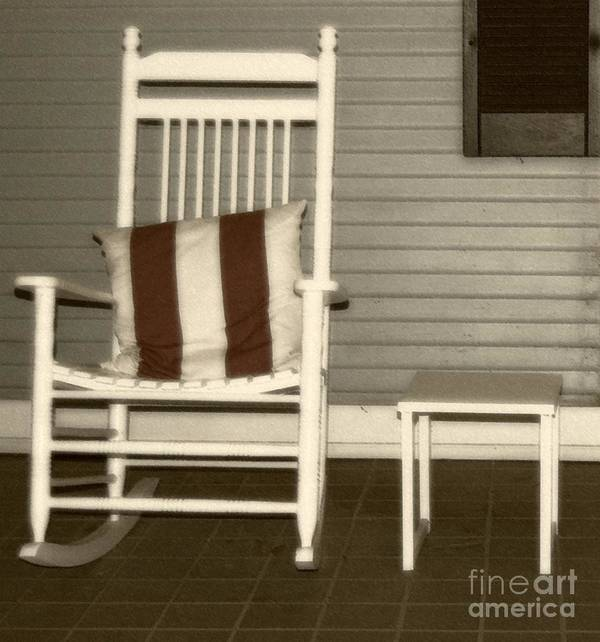 Rocking Chair Poster featuring the photograph Porch Rocker by Debbi Granruth