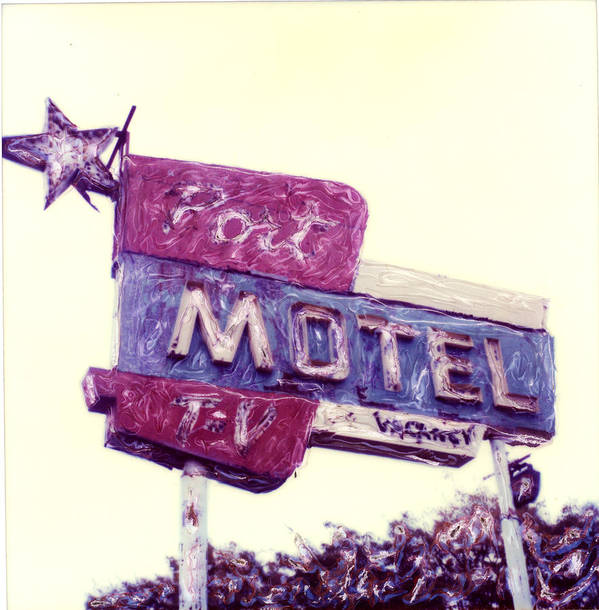 Polaroid Poster featuring the photograph Port Motel by Steven Godfrey
