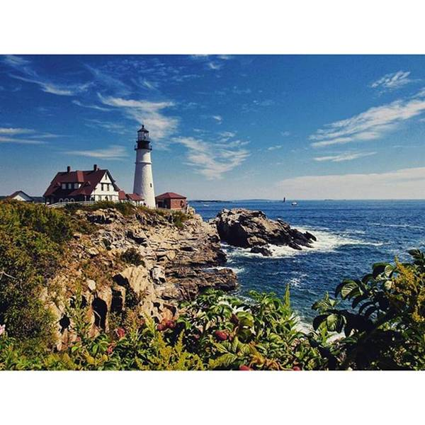 Mymaine Poster featuring the photograph #portland #lighthouse #maine by Luisa Azzolini