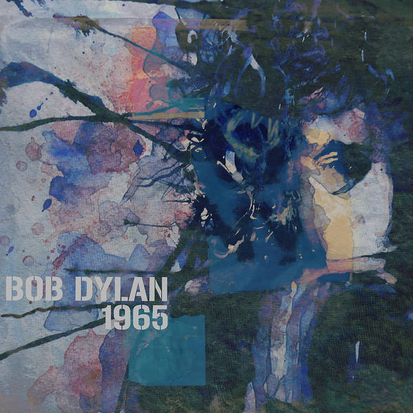 Bob Dylan Poster featuring the painting Positively 4th Street by Paul Lovering