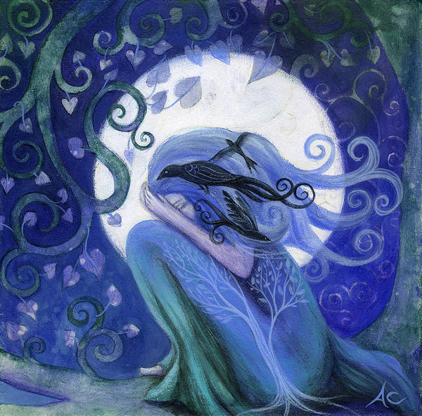 Fantasy Poster featuring the painting Prayer by Amanda Clark
