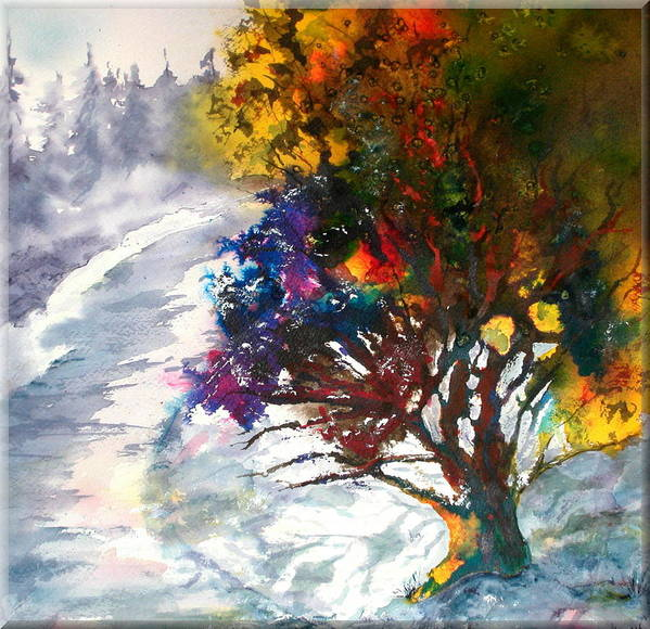 Brilliant Tree Poster featuring the painting Presence by Jo Anne Wyatt