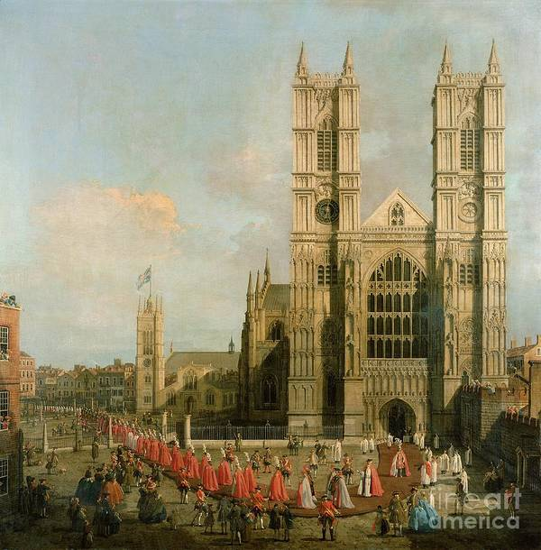 Canaletto Poster featuring the painting Procession Of The Knights Of The Bath by Canaletto