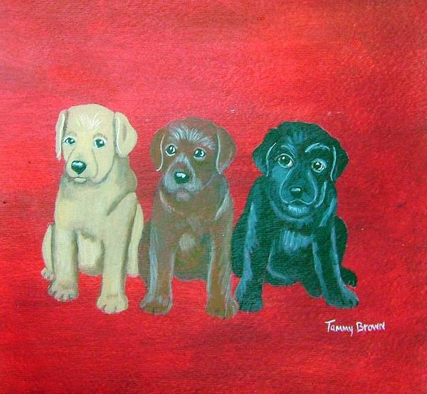 Labrador Poster featuring the painting Puppy Love by Tammy Brown