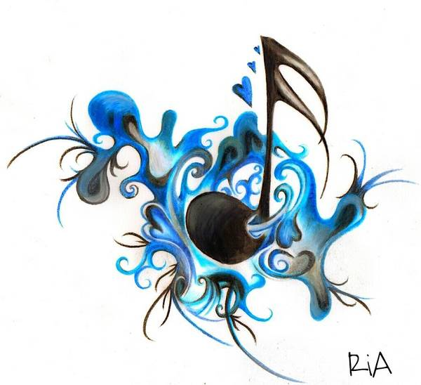 Music Poster featuring the photograph Quenched by Music by Artist RiA