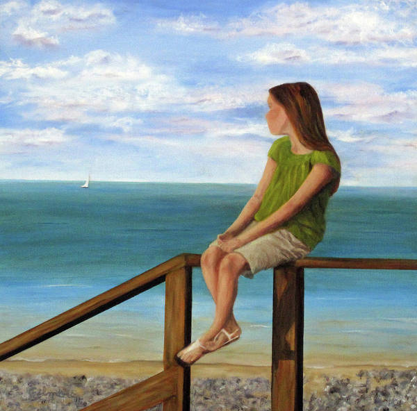 Seascape Poster featuring the painting Quiet Moment by Roseann Gilmore
