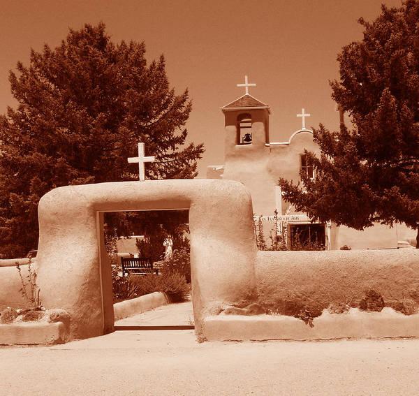 Church Poster featuring the photograph Ranchos De Taos Church  New Mexico by Wayne Potrafka